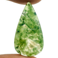 Cts. 17.10 Natural Landscape Moss Agate Cabochon Pear Cab Loose Gemstone