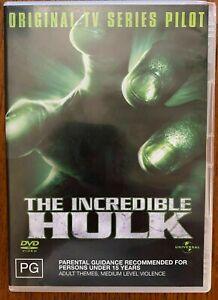 The Incredible Hulk DVD Original TV Series Pilot Lou Ferrigno RARE - AUST PAL