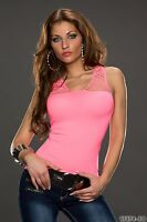 Women's Party Club Wear Elegant Net Blouse Shirt Top Wear UK size 8-10-  Coral