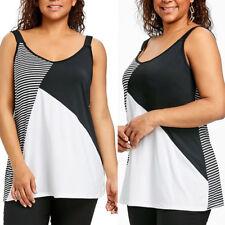 Summer Women Plus Size Blouse Tops Lady Casual Loose Tank Top Vest Soft T-Shirt