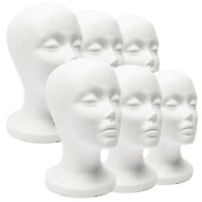 Foam Mannequin Female Head Model Dummy Wig Glasses Hat Display Stand Rack Wide