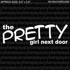 The Pretty Girl Next Door Art Design Car Vinyl Sticker Decals