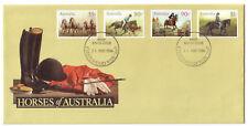 """1986 FDC Australia. Horses of Australia. FDI """"CHATSWOOD"""""""