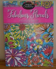 FABULOUS FLORALS, FLOWER  COLORING BOOK 64 PAGES  RELAXING ANTI STRESS,  BN!!