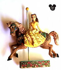 Jim Shore Disney Showcase Carousel Figurine Belle Beauty & the Beast Collection