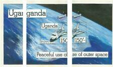 Uganda 1982 Space Shuttle 150s SS HANDPAINTED ESSAY
