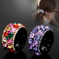 Crystal Diamond Hairband Headband Hair Clip Claw Ponytail Holder MiniHairband Js