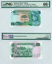 Malaysia $5 P#20 (1983-1984) Cross Flagpole PMG 66 EPQ
