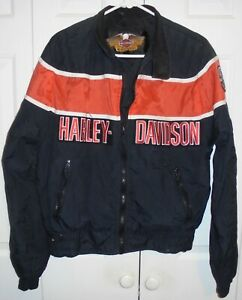 Harley-Davidson Harley Davidson schwarz Gesteppte Bomberjacke