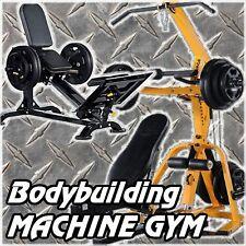 POWERTEC LeverGym WB-LS16 + Leg Sled Press + Weights Bodybuilding Gym