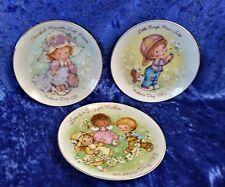 Lot of 3 Avon Mothers Day Plates 1981-1983 22K Gold trimmed Porcelain Vgc