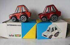 Autobianchi A112 1 Red 1 Bronze Funny Car Polistil 1976 1/55 MG35 2 x Cars