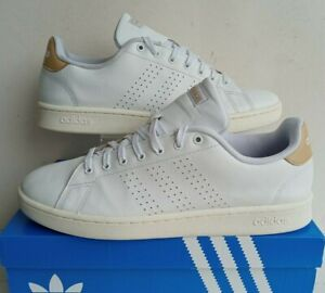 ADIDAS ADVANTAGE TRAINERS EE7684 WHITE LEATHER TENNIS SHOES SIZE 11.5 EUR 46 2/3