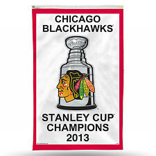 Chicago Blackhawks 2013 Stanley Cup Champions Vertical Banner 3' x 5' NHL Flag