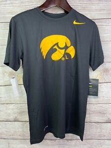 NEW Nike IOWA HAWKEYES Mens black short sleeve Dri-Fit shirt tshirt MANY SIZES