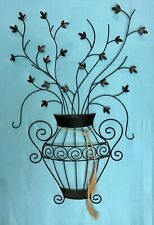 FLOWER POT WIRE METAL WALL HANGING DECOR