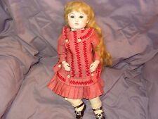 Antique Circle Dot Bru Doll
