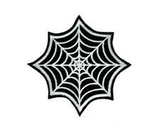 Gothic Spider Web Iron On Patch Halloween Applique Punk Psychobilly Horror Metal