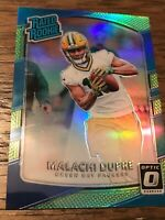 """MALACHI DUPREE ROOKIE OPTIC """"RATED ROOKIE"""" 2017 GREEN BAY PACKERS Green Blue"""