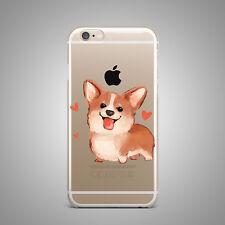 Corgi Dog Design Soft TPU Rubber Silicone Clear Cover Back Case 4 iPhone 7 Plus