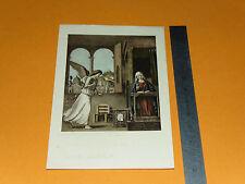 CHROMO 1932 IMAGE PIEUSE CATHOLICISME HOLY CARD ANGE ET SAINTE VIERGE
