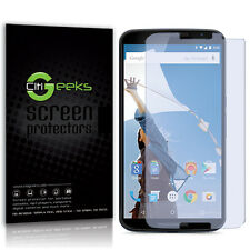 CitiGeeks® Google Nexus 6 Screen Protector HD Crystal Clear Skin Guard [3-Pack]