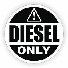 Sticker decal car door bumper macbook laptop rental diesel fuel only black white