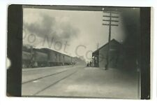 RPPC NYC NEW YORK CENTRAL Railroad Station GREAT BEND NY Real Photo Postcard