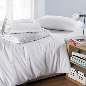 LUXURY STUDENT ACCOMMODATION HOSTELS DUVET /FITTED BED LINEN SET WITH PILLOWCASE