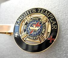 Knights Templar Enamel Tie Pin Bar Freemason Preowned Used FREE UK POST