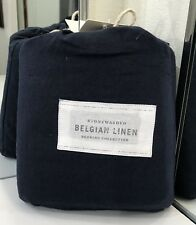 Restoration Hardware Stonewashed Belgian Linen Bed Skirt Cal King Indigo $189