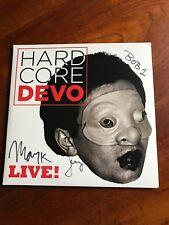 Devo Hardcore Live! 2 X Negro Vinilo Lp 's firmado por la banda!!!!!! nuevo!!!