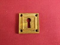 Antique /Vintage Cast Bronze / Brass Keyhole Cover Escutcheon Plate