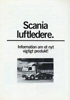 Scania luftledere Prospekt DK 1980 dänisch danish Nutzfahrzeugprospekt LKW Truck