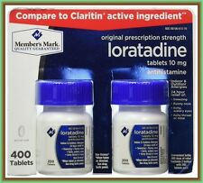 Member's Mark 10 mg Loratadine -400 tabs- GLUTEN FREE-Antihistamine