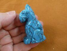 Y-Dog-Sc-719 blue Schnauzer Scottish Terrier Scottie dog stone Figurine carving