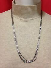 "LIQUID SILVER 925 STERLING 5 STRAND 12"" WITH A DOZEN TURQUOISE HEISHI"