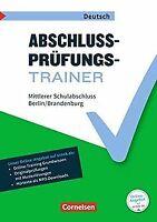 Abschlussprüfungstrainer Deutsch - Berlin und Brand... | Buch | Zustand sehr gut