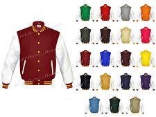 Leather Original American Varsity Letterman College Baseball Jacket #WS-YS-YB-LE