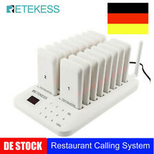 TD157 Restaurant Guest Call Queuing Funkrufsystem Sender+16*Funkrufempfänger DE