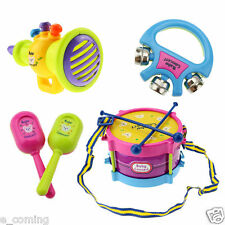 5pcs Kids Children Baby Roll Drum Musical Instrument Band Kit Education Toy Game