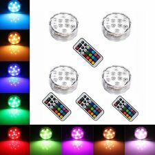 Remote Controlled RGB Submersible LED Lights Color Changing AAA Battery Operated