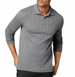Van Heusen Mens Casual Shirt Sz XL Gray Seal Long Sleeve Collared Casual Shirt