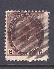 Canada Scott # 80     6 cent violet Scott Catalog Val $45.00 fine used