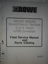 Rowe 4900 S & Jr Snack Field Service Manual SingleBoard