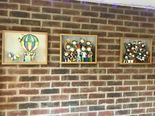"""Set Of 3 Pictures Kids room With Frame 17x13"""""""