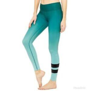 ALO Yoga airbrush ombre leggings women's size small green athleisure yoga