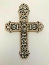 Mdf Cross Silhouette Wall Hanging 16.2cm