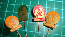 De Ruijter Ruyter speldje pin badge 60s 60's vtg lapel Dutch 4pcs