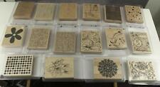 HUGE Dealer Lot STAMPIN UP Paper Crafting Background Stamps Wood Mounted L-2